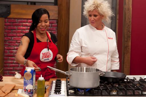 Anne Burrell and Rasheeda Brown
