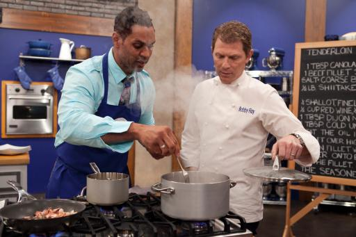 Chet Pourciau and Bobby Flay