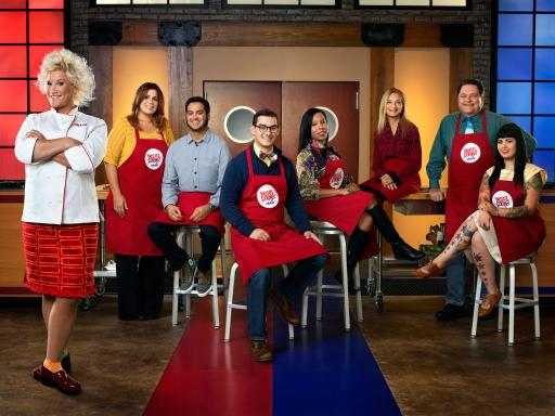 Anne Burrell and team