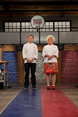 Bobby Flay and Anne Burrell
