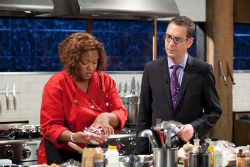 Sunny Anderson and Ted Allen