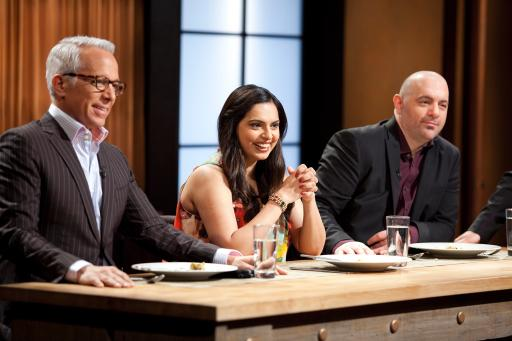 Geoffrey Zakarian, Maneet Chauhan and Chris Santos