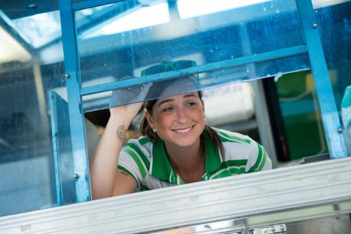 Team member of Murphy's Spud Truck on The Great Food Truck Race Season 4
