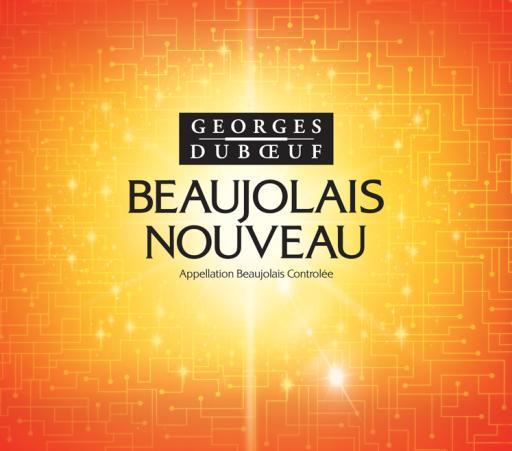 Georges Duboeuf Beaujolais Nouveau 2012 Label