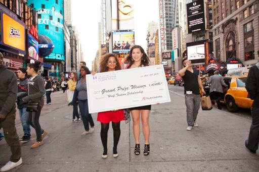 Grand Prize Winners in Times Square