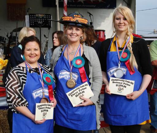 Top Three Cornbread Cook-Off Winners 
