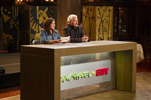 Rachael Ray and Guy Fieri host Food Network's Rachael vs. Guy Celebrity Cook-Off