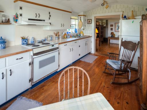 Before shot of the kitchen of DIY Network's 2013 Blog Cabin located in Atlantic, N.C.