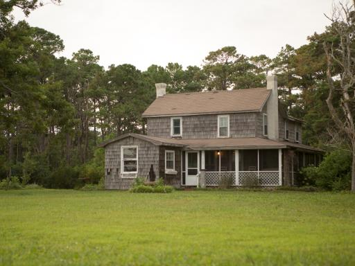 Before shot of DIY Network's 2013 Blog Cabin located in Atlantic, N.C.