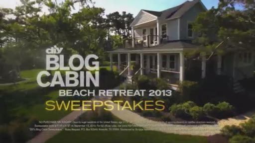 Enter DIY Network's Blog Cabin Sweepstakes