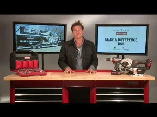 "Ty Pennington launches The Craftsman ""Make A Difference"" tour to help restore communities"