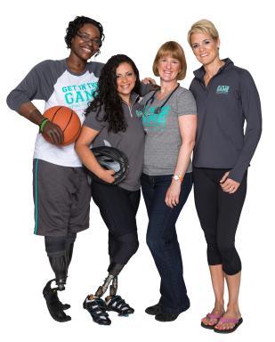 Meningococcal Disease Survivors Rayna DuBose, Jamie Schanbaum with Beth Mattey &  Dara Torres