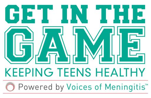 Voices of Meningitis: Get in the Game Logo