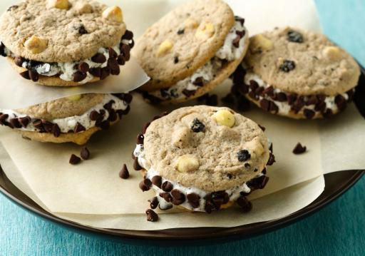 Cookies and Cream Ice Cream Sandwiches