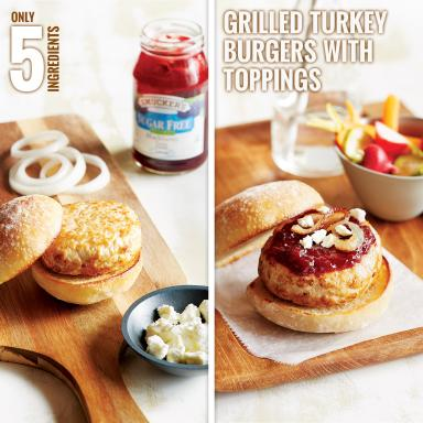 Smucker's® Grilled Turkey Burgers With Toppings