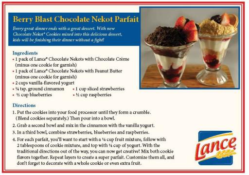 Lance® Nekot Parfait Recipe Card