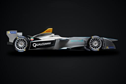 New Formula E Race Car (Side)