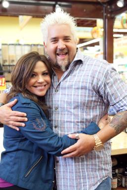 Rachael Ray and Guy Fieri on Season 3 of Rachael vs. Guy: Celebrity Cook-Off