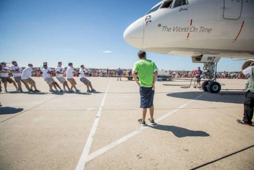 PR Newswire at the Dulles Plane Pull Benefitting Virginia Special Olympics