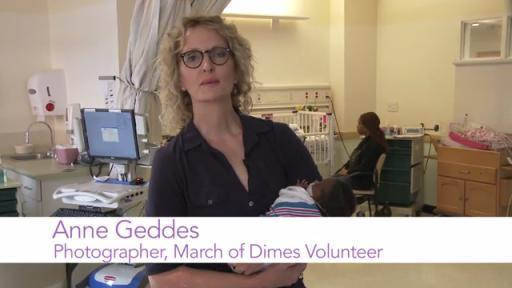 Anne Geddes Supports Prematurity Awareness Month PSA
