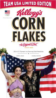 Meryl Davis and Charlie White Special-Edition Corn Flakes Box