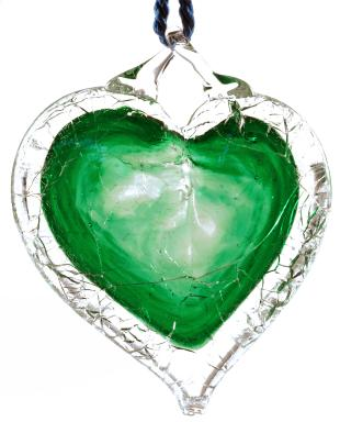 NGVAC - Green Shattered Heart™ - universal symbol for sane gun laws