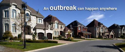 An outbreak can happen anywhere