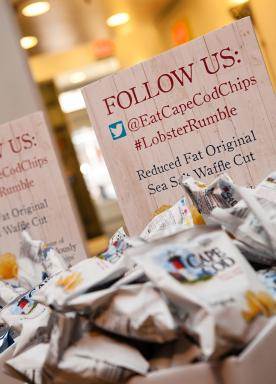 Find Cape Cod Potato Chips on social and join in the Lobster Rumble fun!