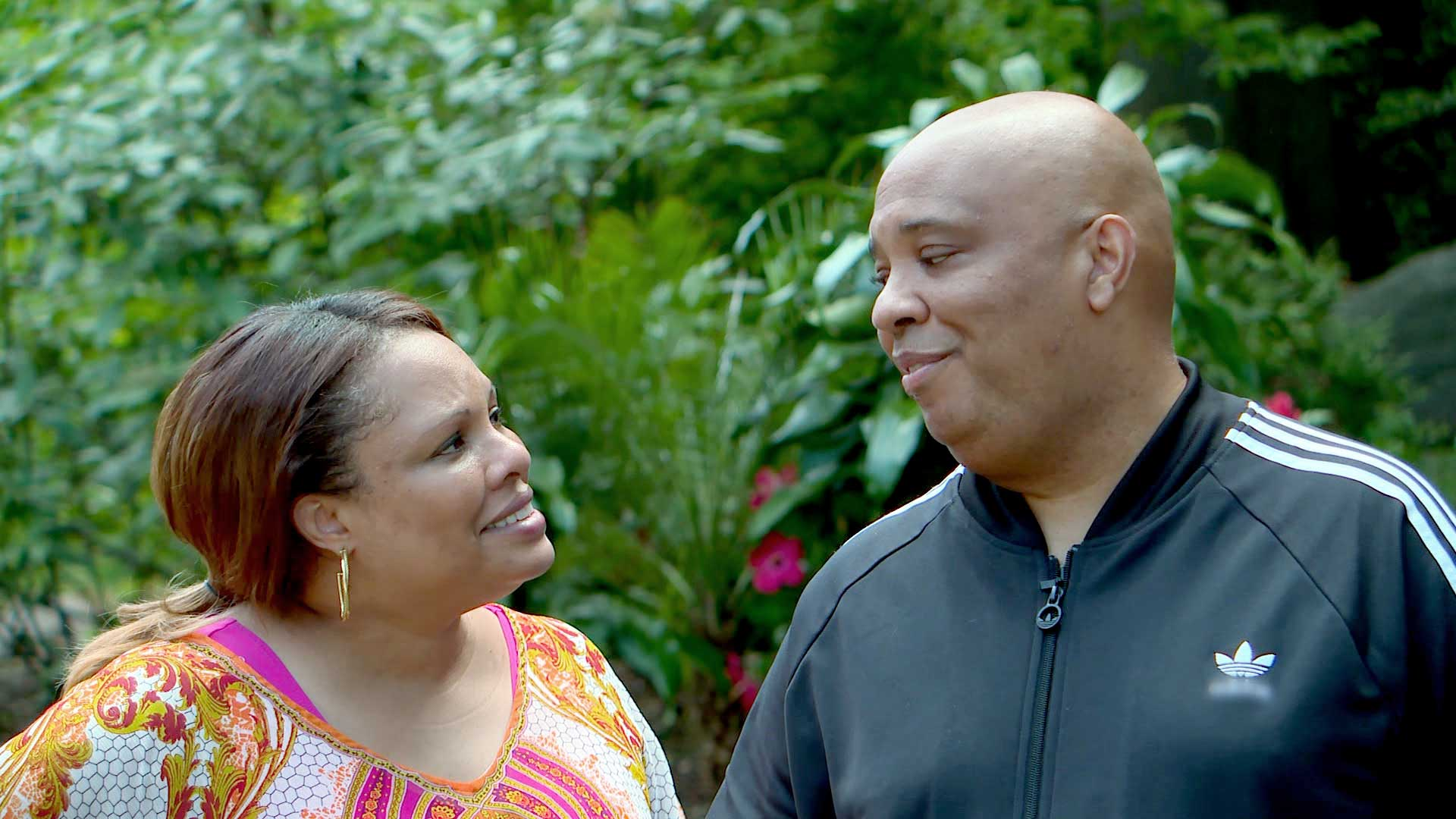 Rev Run and Justine Simmons reflect on their trip to Jamaica with smiles.