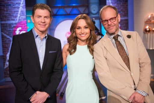 Bobby Flay, Giada De Laurentiis and Alton Brown on Food Network Star