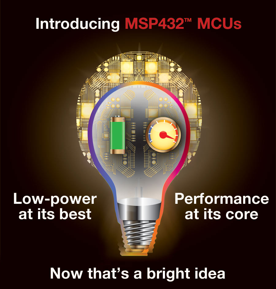 Start evaluating MSP432 MCUs immediately with a low-cost LaunchPad rapid prototyping kit (MSP-EXP432P401R) with on-board emulation.