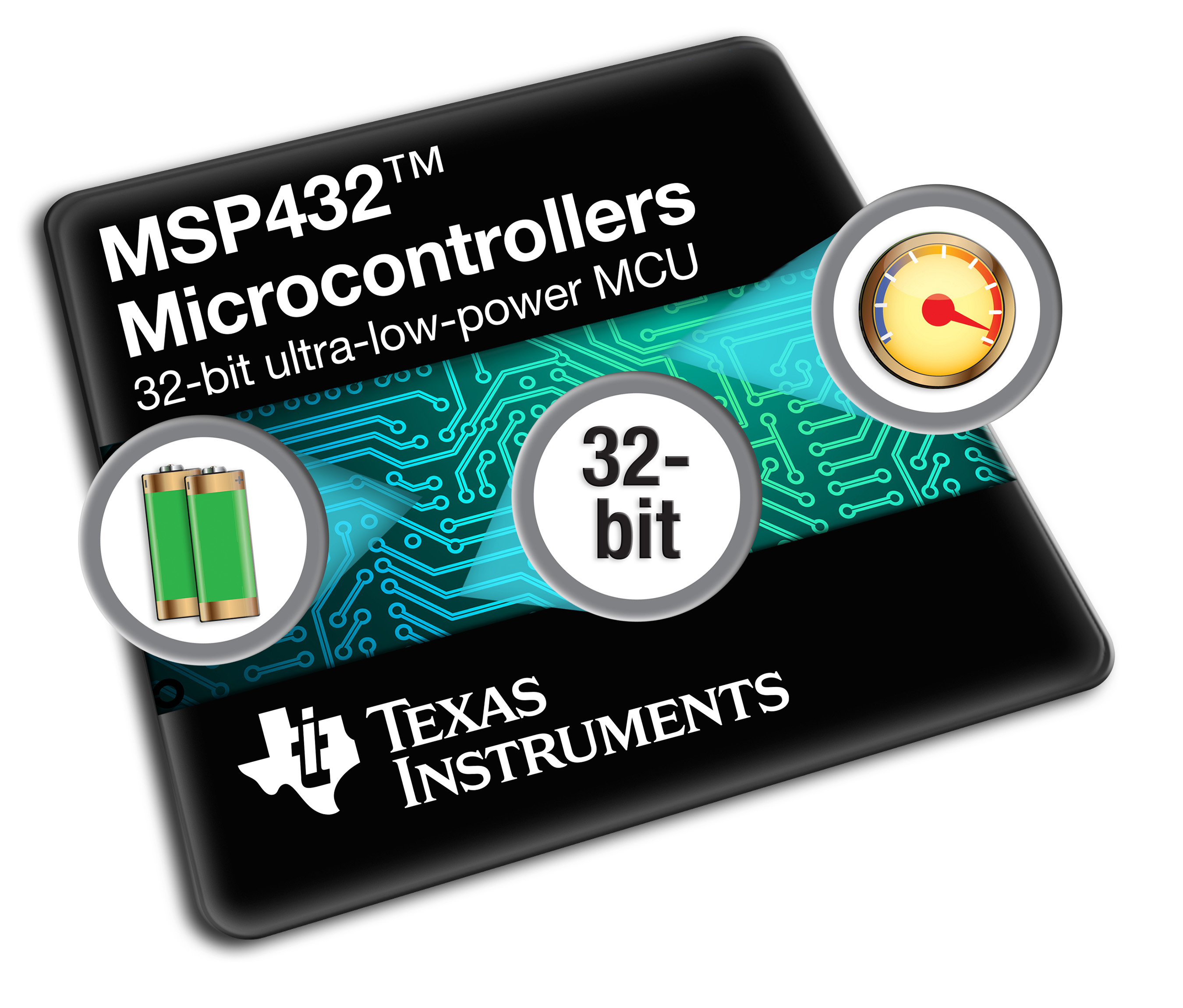 TI's new 32-bit MSP432™ platform is the world's lowest power microcontroller, but  with  high  performance  at  its  core.