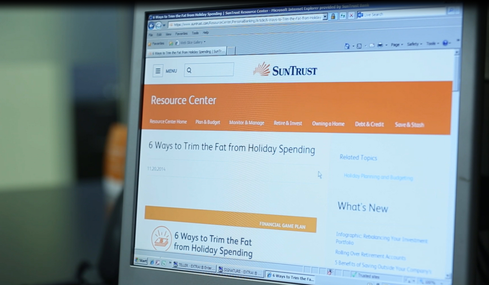 Visit the SunTrust Resource Center.