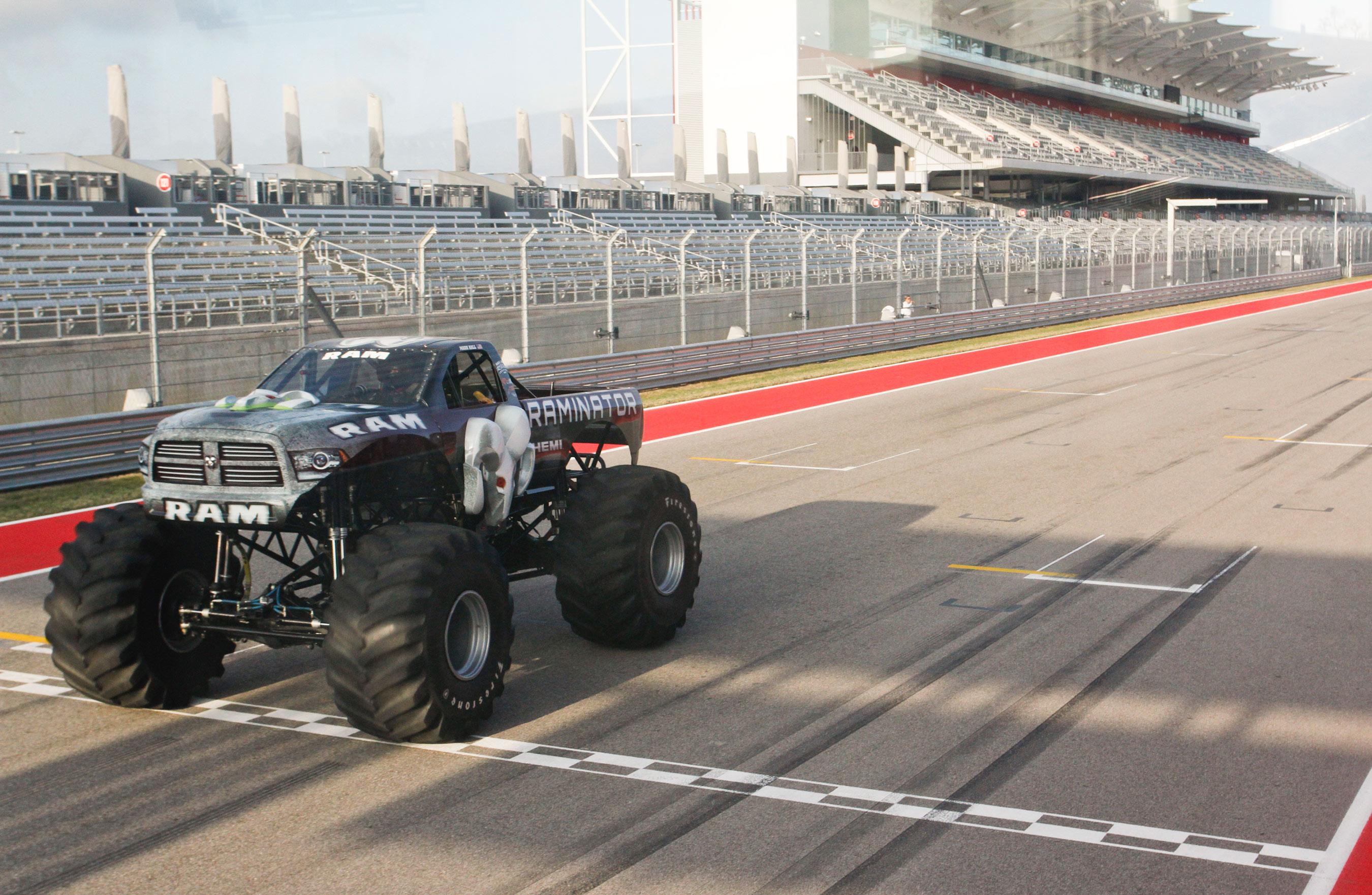 Guinness world records title holder for fastest speed for a monster truck raminator