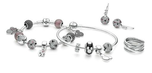 PANDORA's Disney jewelry collection of charms
