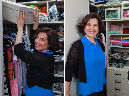 Before and After Liberating Your Closet with Julie Morgenstern