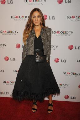 Supporter of the arts Sarah Jessica Parker at LG Electronics' Art of the Pixel Gala at Gotham Hall.