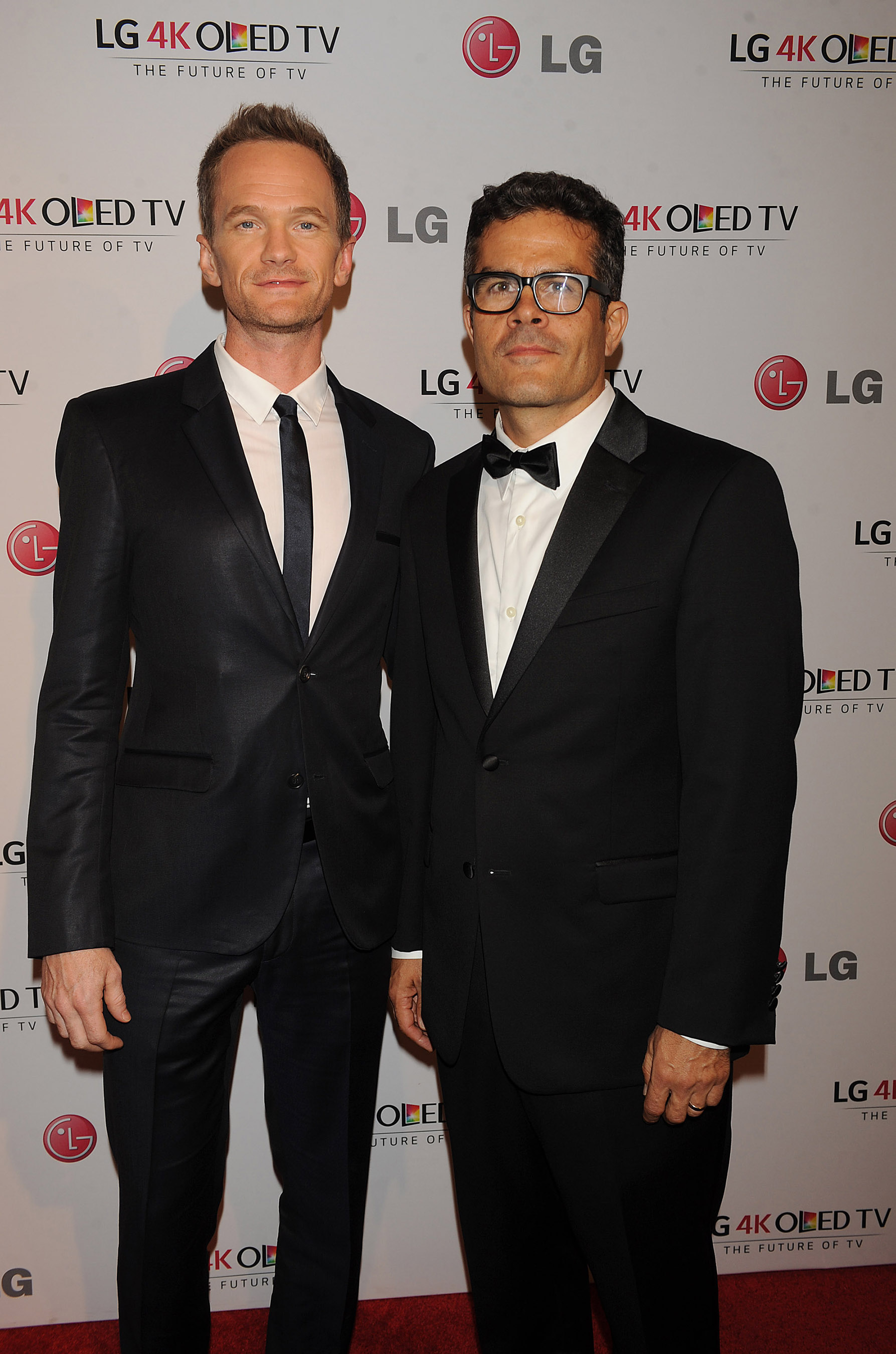 LG Art of the Pixel ambassador Neil Patrick Harris (on left) and Art of the Pixel judge Mark Tribe