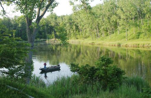 Coal Reclamation Fishing Stream Peabody