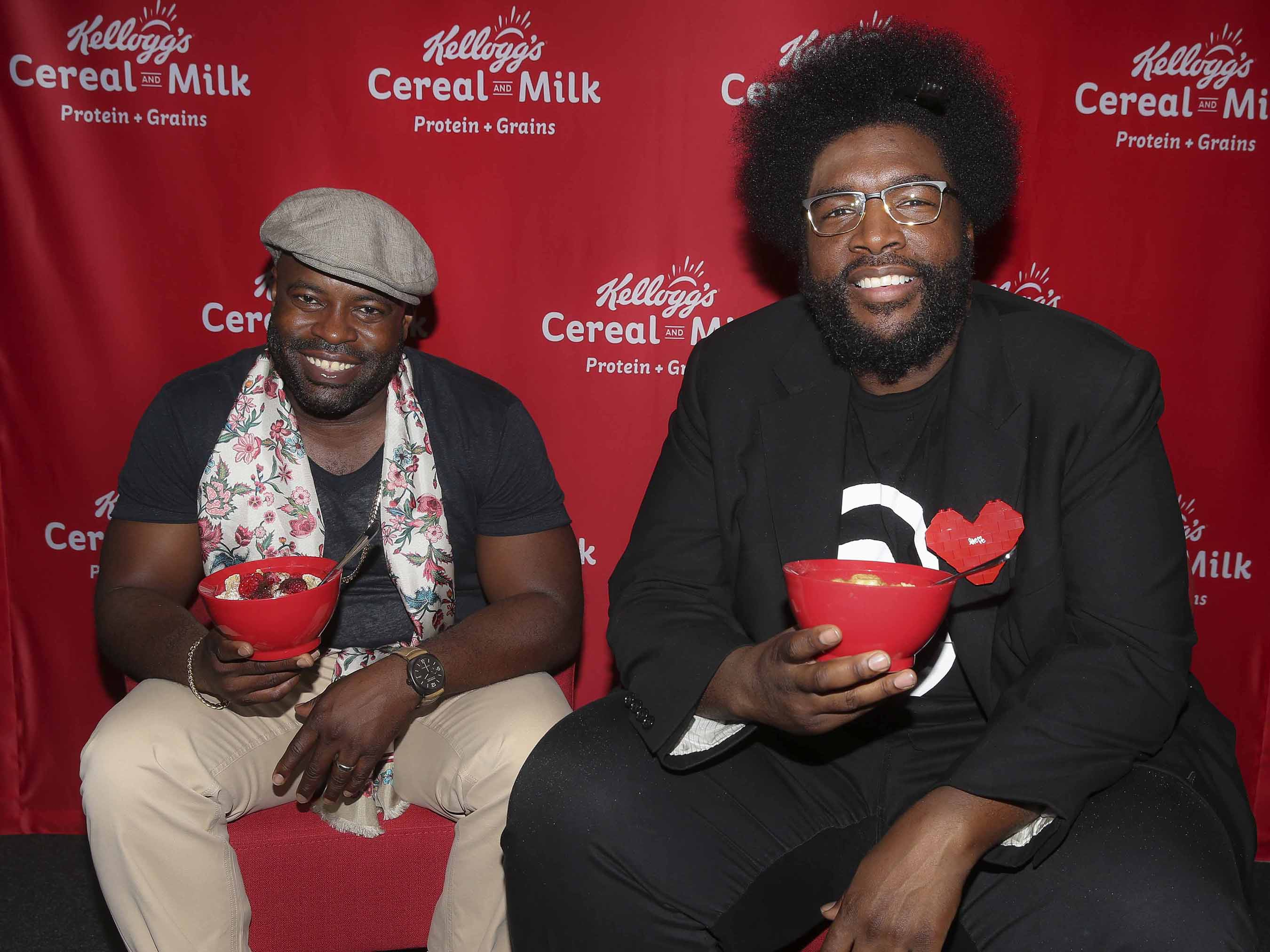 Black Thought and ?uestlove, Grammy Award-winning artists and members of The Roots, at the Kellogg's Recharge Bar