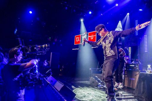 T.I. performs on the Honda Stage at the iHeart Radio Theatre