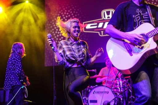 Hannah Hooper of Grouplove Performs at the Honda Stage Launch