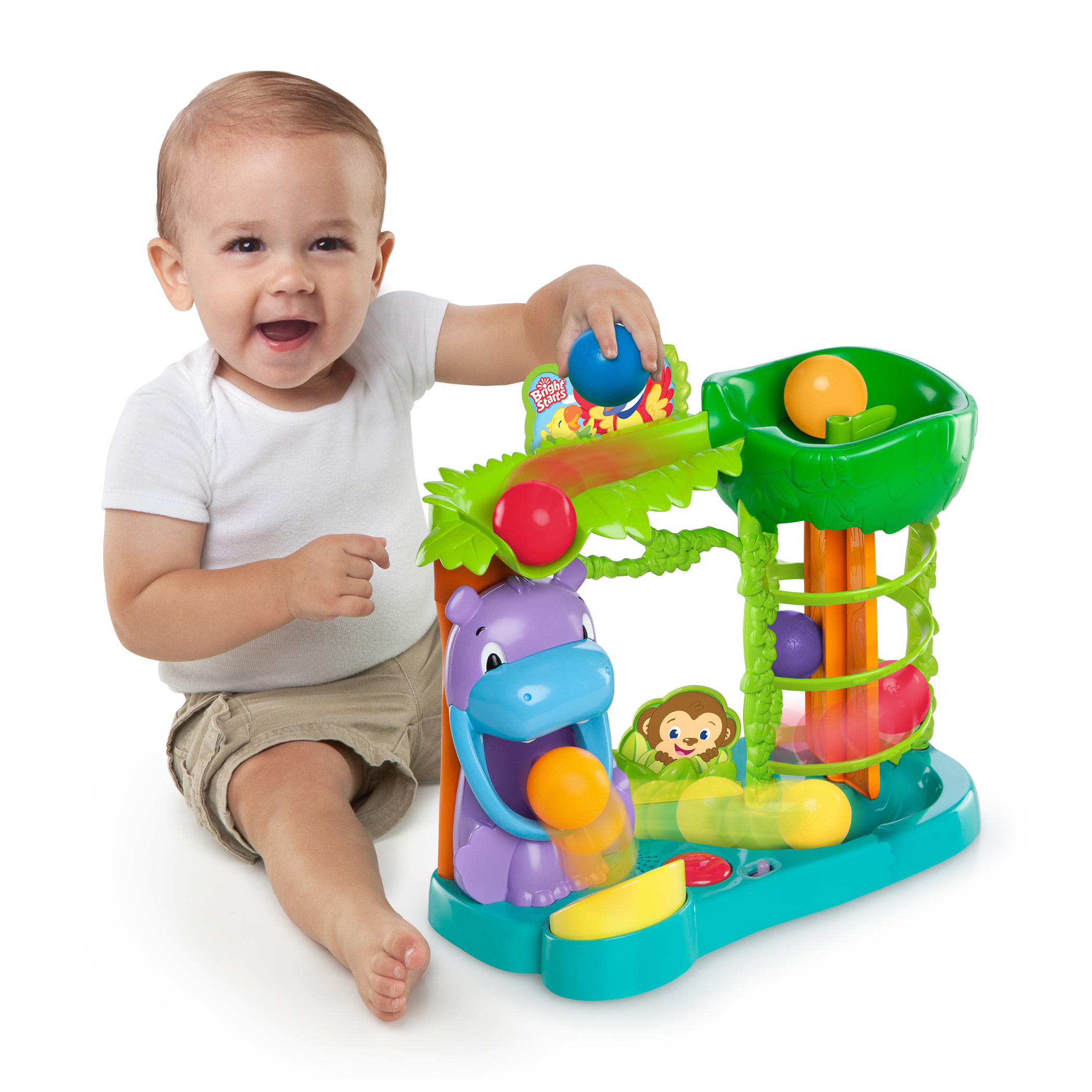 New Baby Toys : Laughter is a serious matter bright starts™ introduces