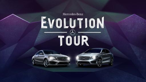 Mercedes-Benz Evolution Tour Logo with Cars