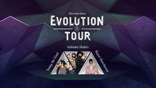 Mercedes-Benz Evolution Tour Logo with Artists