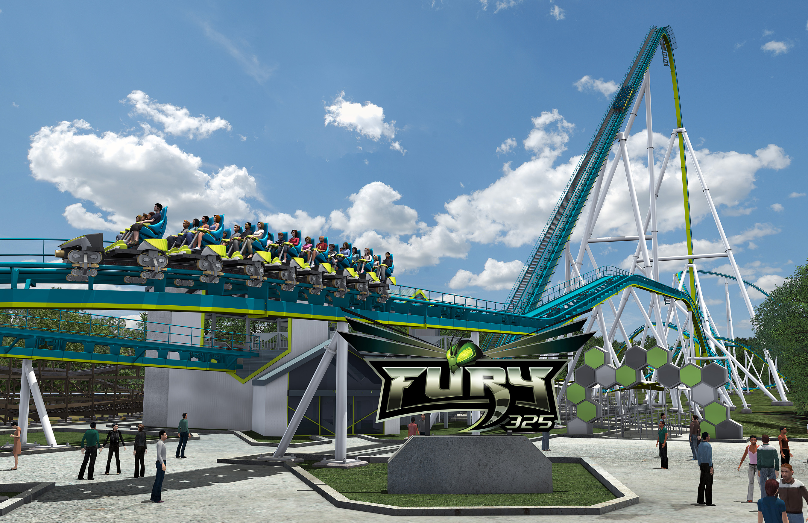 Carowinds unleashes Fury 325, the world's tallest, fastest giga coaster inspired by the furious flight of a hornet. Opening Spring 2015, Fury 325 will give thrill seekers the ride of their life.