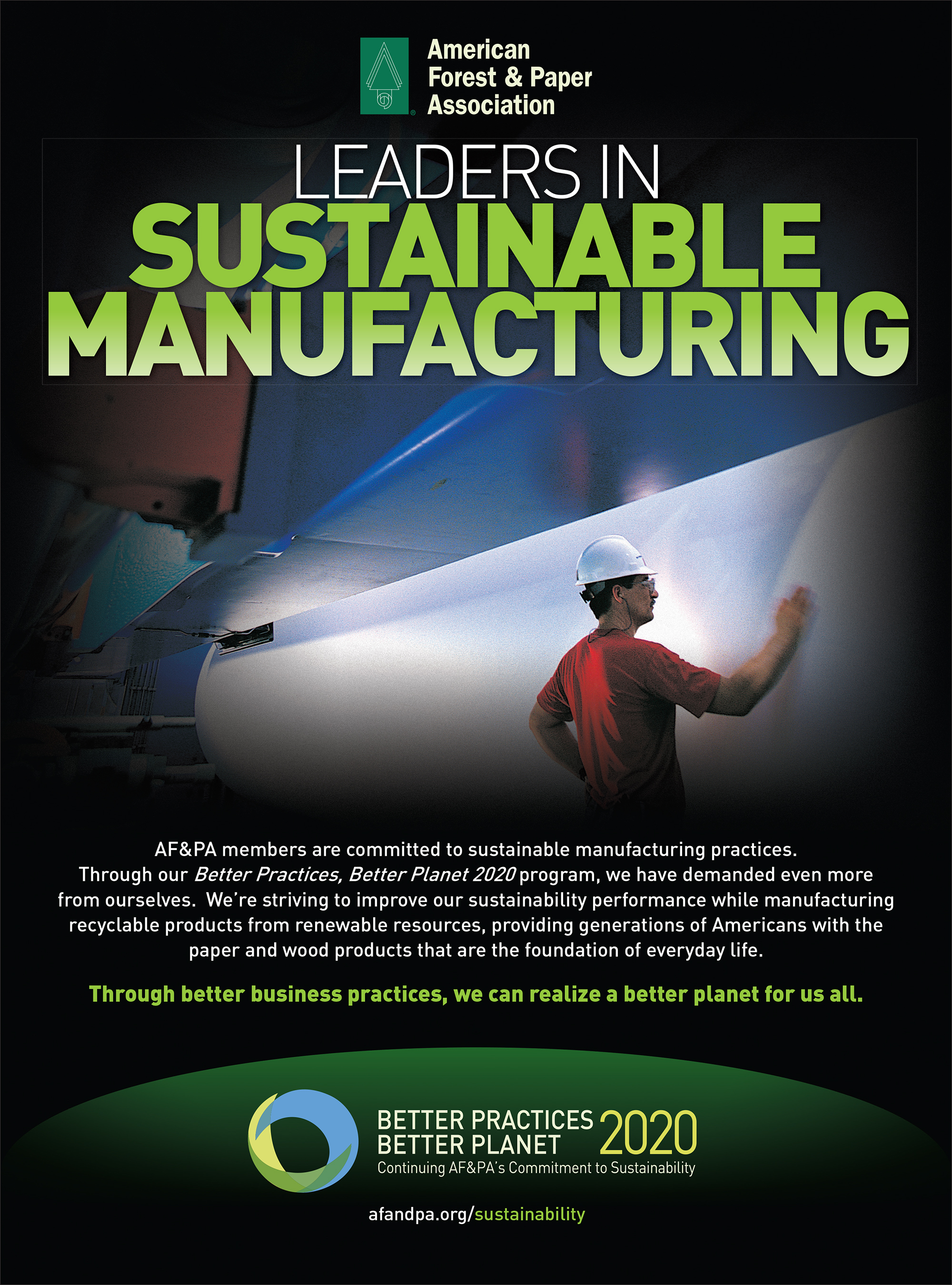 We are leaders in sustainability.
