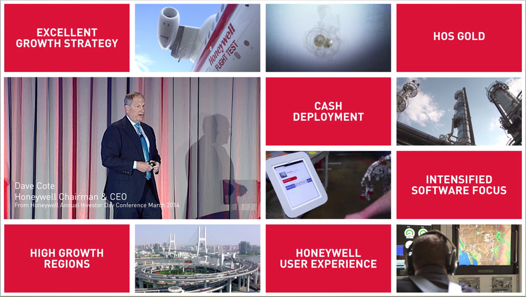 Honeywell's Five-Year Plan for 2014 to 2018 projects $46-51 billion in revenue and double digit earnings growth.