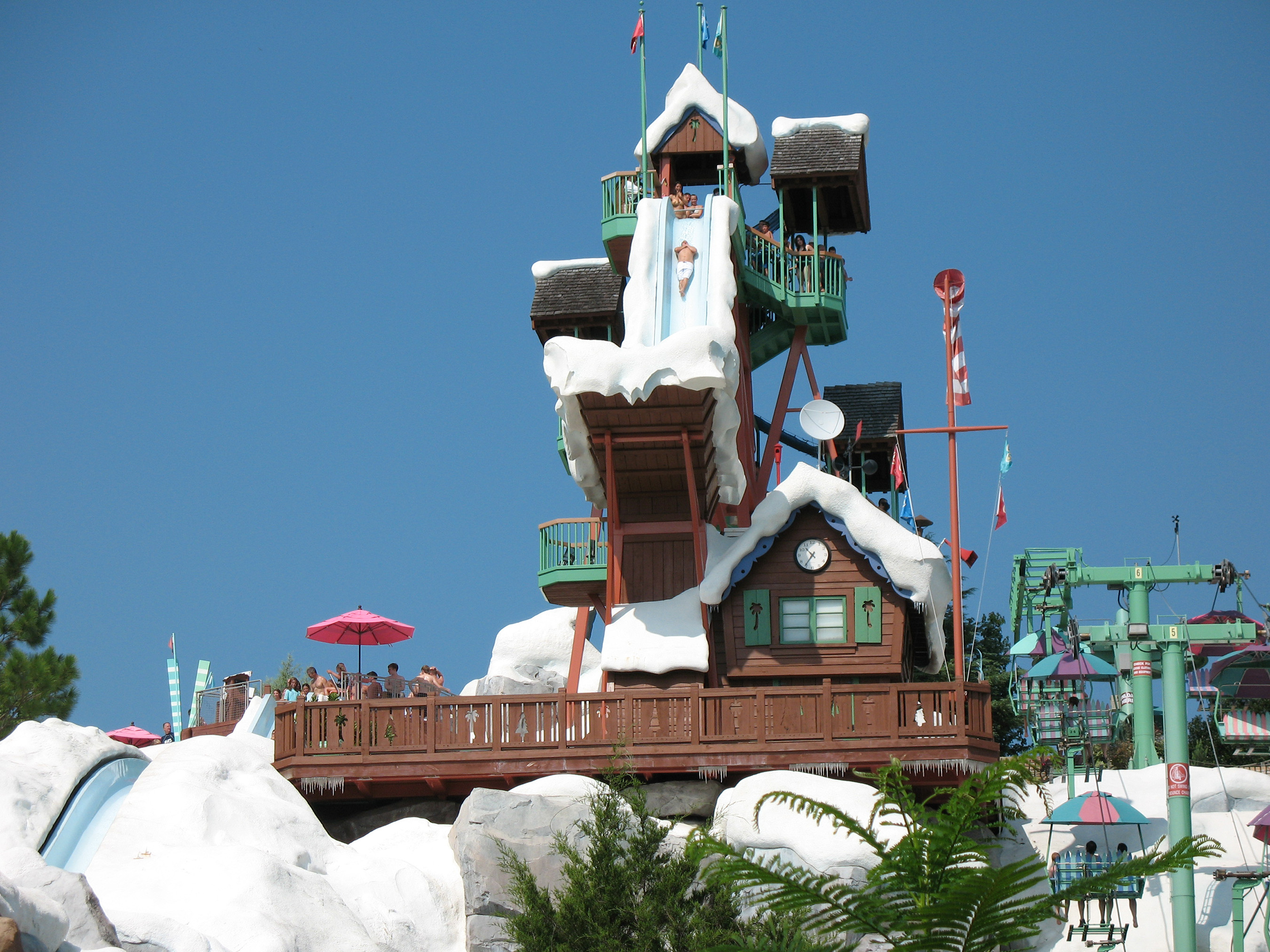 Disney's Blizzard Beach in Orlando, FL is the #1 water park in the U.S. (#3 world,) according to the TripAdvisor Travelers' Choice Amusement Parks and Water Parks.