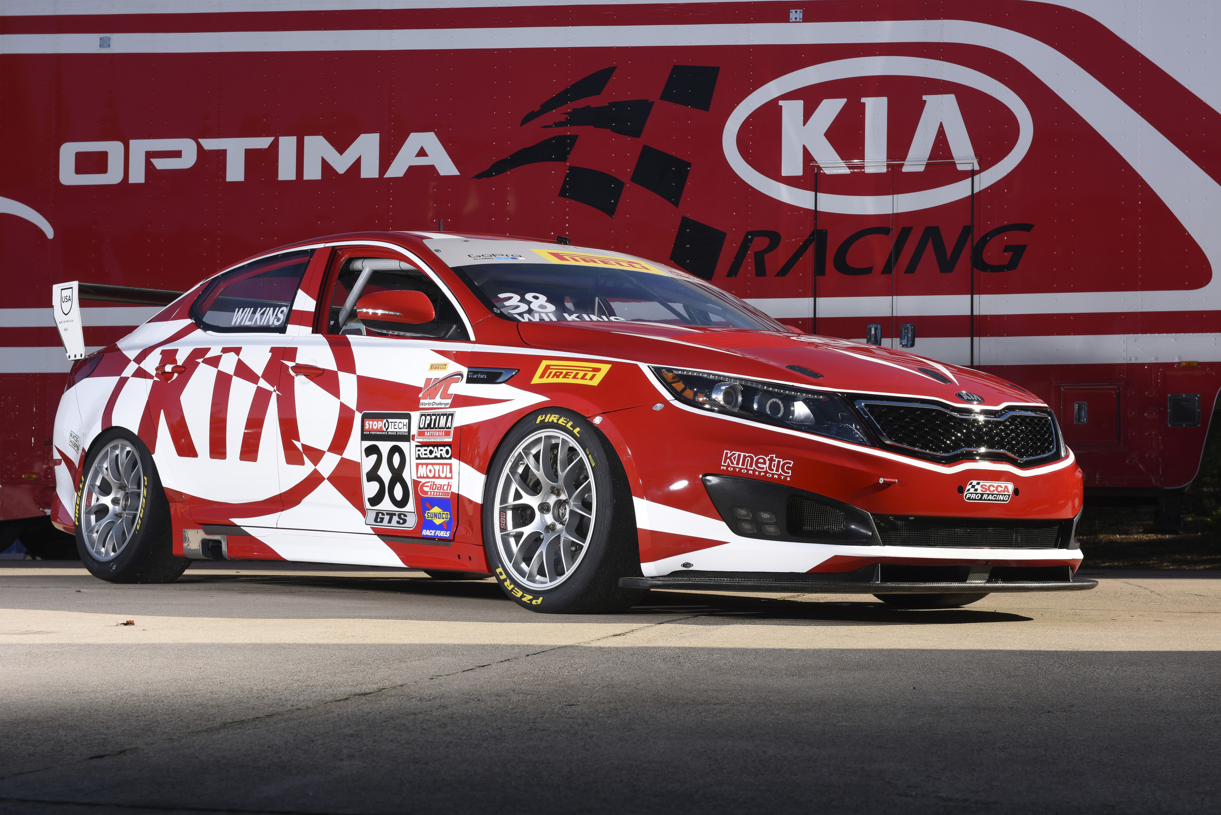 Kia Racing Optima features an exciting new livery for the 2015 racing season.